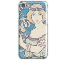 Vintage woman with flower iPhone Case/Skin
