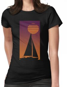 Sailboat Sunrise Womens Fitted T-Shirt
