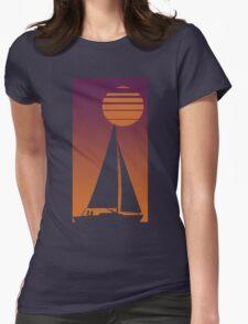 Sailboat Sunrise Womens Fitted T-Shirt