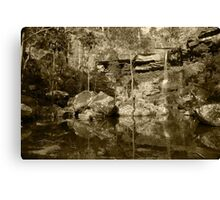 Hidden in the gorge Canvas Print