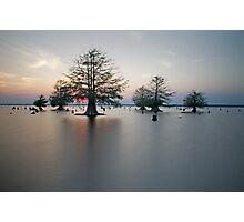 Sunken Island, Sunken Sun Photographic Print