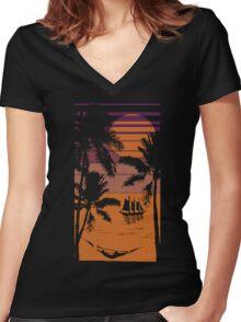 Sunrise Women's Fitted V-Neck T-Shirt
