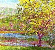 Yellow tree by Julia Lesnichy