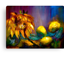Still Life with a Sunflower... Canvas Print