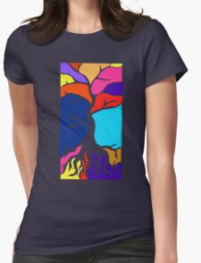 Tree Silhouette Womens Fitted T-Shirt