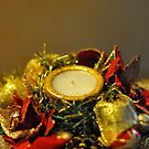 Christmas candle by LifePictures