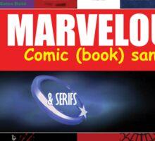 A - Z Iconic Marvelous comic book sans & serifs Charactography  Sticker