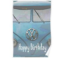 """VW Beetle - """"Happy Father's Day"""" Card Poster"""