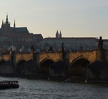 Across the Vltava River to Prague Castle by SerenaB