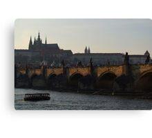 Across the Vltava River to Prague Castle Canvas Print