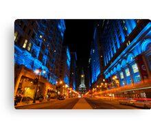 Broad Street City Lights, Philadelphia Canvas Print
