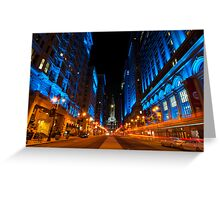 Broad Street City Lights, Philadelphia Greeting Card