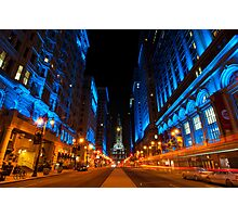 Broad Street City Lights, Philadelphia Photographic Print