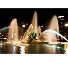 Logan Square fountain, Philadelphia Photographic Print