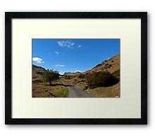 Between the Valleys Framed Print