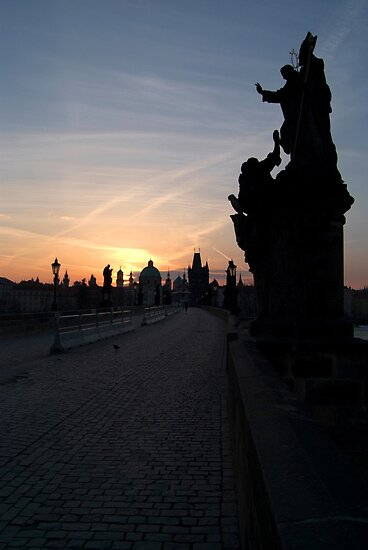 Sunrise Charles Bridge by SerenaB