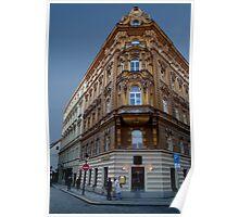 Corner Building, Prague Poster