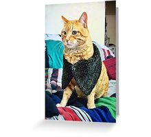 Dogs are dogs, ducks are ducks but cats are people. Greeting Card