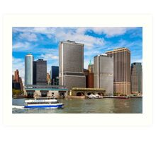 Take The Ferry to Manhattan - East River Waterfront Art Print