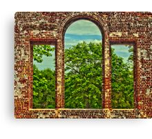 Walls By Man, Windowpanes By God Canvas Print