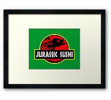 Jurassic Sushi Framed Print