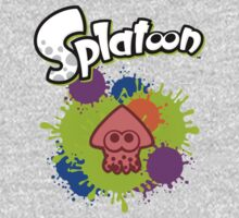 Splatoon Squid - Colour Red Baby Tee