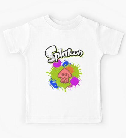 Splatoon Squid - Colour Red Kids Tee