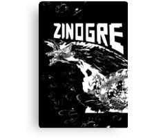 Monster Hunter- Zinogre Roar Design White Canvas Print