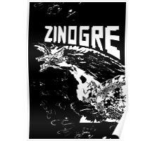 Monster Hunter- Zinogre Roar Design White Poster