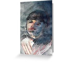 The Timeless Couple, man, watercolor Greeting Card