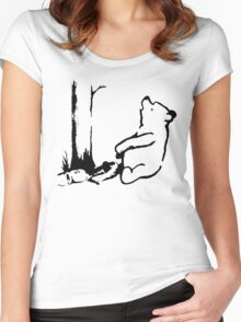 Banksy - Winnie the Pooh Women's Fitted Scoop T-Shirt