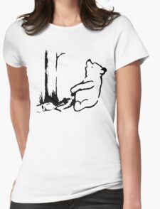 Banksy - Winnie the Pooh Womens Fitted T-Shirt