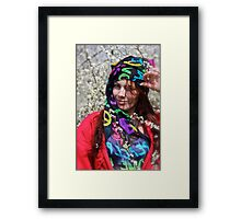 Be Sure to Wear Some Flowers in Your Hair -  Ada Evita KittyCat & Doktor Faustus. featured in Hat Heads . Feel so good . Framed Print