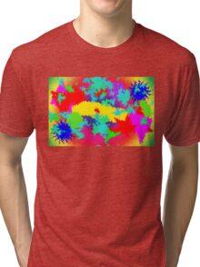 Colourful Random Trippy Pattern Tri-blend T-Shirt