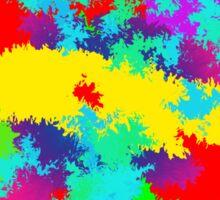 Colourful Random Trippy Pattern Sticker