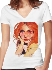 Motley Women's Fitted V-Neck T-Shirt