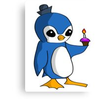 Birthday Penguin Canvas Print