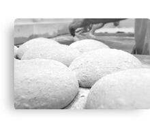 The shaped loaves are allowed to leaven before baking,  Metal Print
