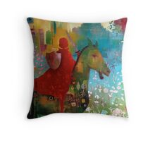 Dangerous Betty goes to Pony Club Throw Pillow