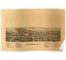 Panoramic Maps Caledonia NY Poster
