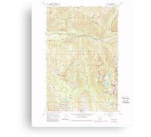 USGS Topo Map Washington State WA Scenic 243594 1965 24000 Canvas Print
