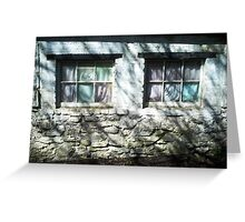 The Witches Window under the Cold Fingers of Shadows Greeting Card