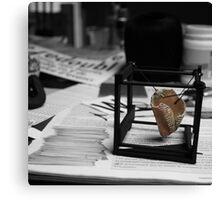 Work in progress... Jeux de Construction part III with Lettres aux Cubes : V Canvas Print