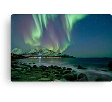 Aurora Borealis at Tromvik Canvas Print