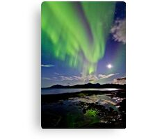 Auroras at Hillesøy Canvas Print