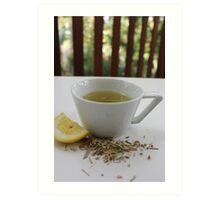 Lemongrass Tea and Lemon Slice Art Print