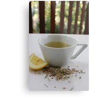 Lemongrass Tea and Lemon Slice Metal Print