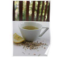 Lemongrass Tea and Lemon Slice Poster