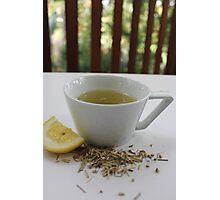 Lemongrass Tea and Lemon Slice Photographic Print