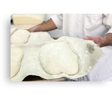 The dough is allowed to leaven before forming into loaves. Metal Print